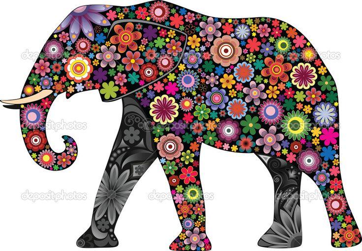 Baixar - O elefante alegre — Ilustração de Stock #8972267