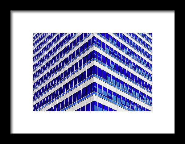 Modern Office Building Glass Architectural Detail Framed Print