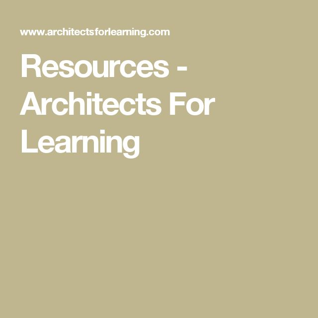 Resources - Architects For Learning