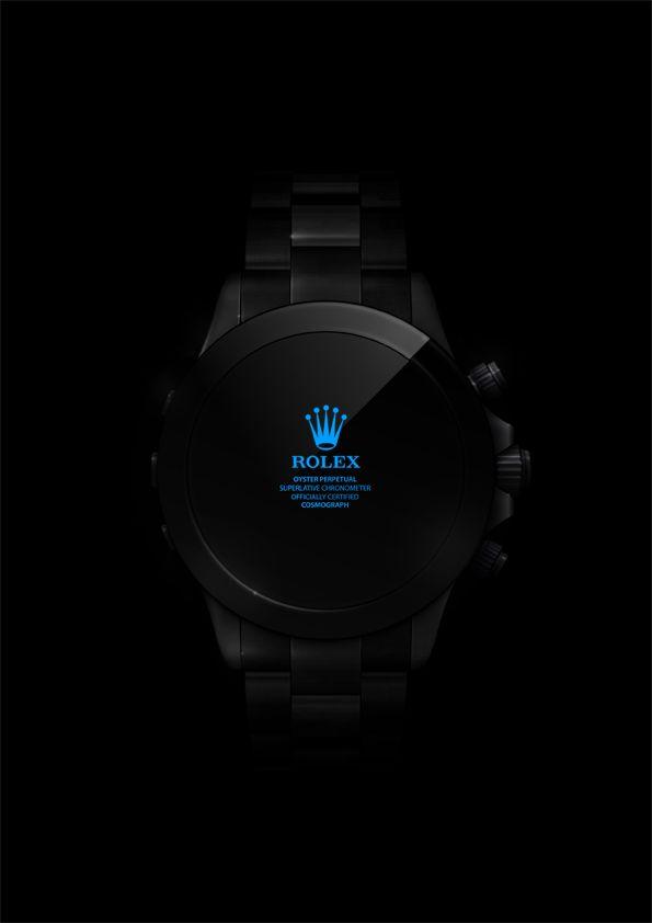 Daytona BlackPearl, digital Rolex - Vector illustration on Web Design Served