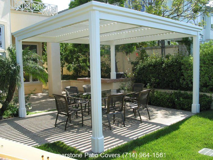 how to build a stand alone covered patio