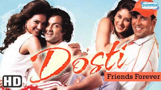 """Dosti is a story about two friends Karan and Raj. Karan is the son of a businessman and leads a luxurious lifestyle. Once on a trip to his farmhouse he meets Raj ... Dosti {HD} - Akshay Kumar - Bobby Deol - Kareena Kapoor - Lara Dutta - Hindi Full Movie was viewed about 9707241 times, Dosti {HD} - Akshay Kumar - Bobby Deol - Kareena Kapoor - Lara Dutta - Hindi Full Movie movie was posted on 2016-02-18 09:13:27 21895 people has liked this movie and about 4152 peoples didn't liked it...."