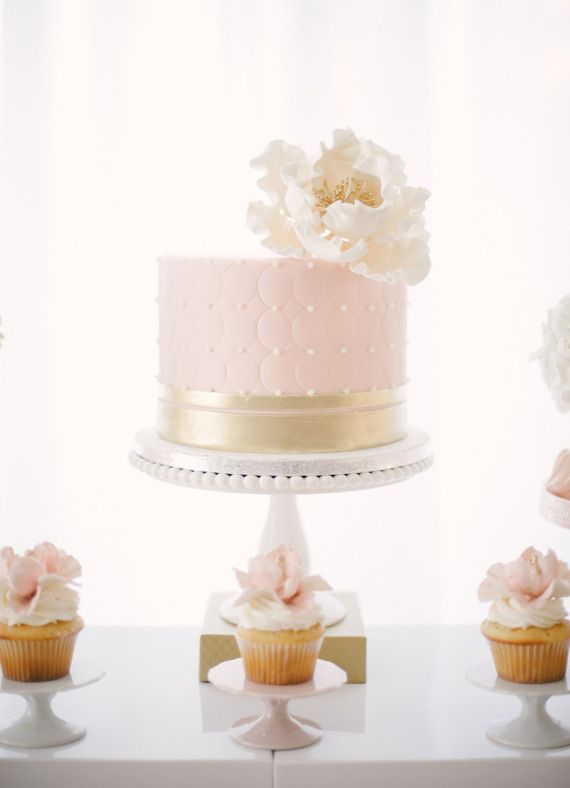 Pink and gold Sip n' See party for Penny   Melissa Baum Events   100 Layer Cakelet #pinkandgold #pinkandgoldcake #sipandsee #sipnsee #babyshower #pinkbabyshower #pinkdesserttable