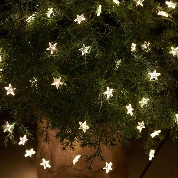 25 unieke ideen over battery operated outdoor lights op 40 led green wire trille star fairy lights with timer 20 liked on aloadofball Gallery