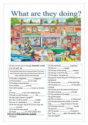 Two pages of exercises, with key on page 3. True or false, comprehension questions, make questions and gap fill. My thanks to Ravensburger Puzzles for letting me use the picture. I hope you will find it useful. - ESL worksheets