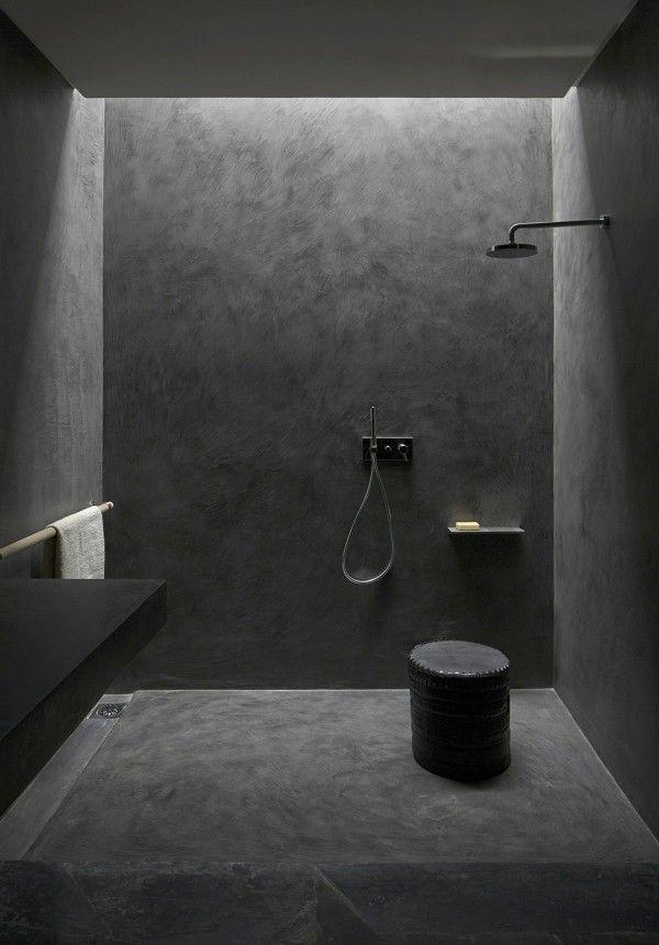 bathroom / MINIMALIST MOUNTAIN LODGE IN MOROCCO