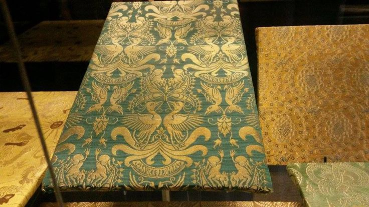 Copies of the funeral gowns' fabrics found in New Royal Crypt (Collection of the Prague Castle), 12th and 14th century