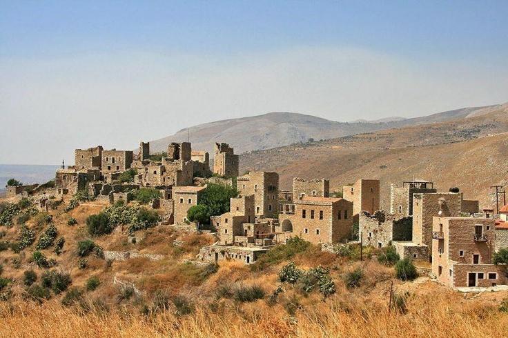 Old village of Vathia, Laconia - Greece