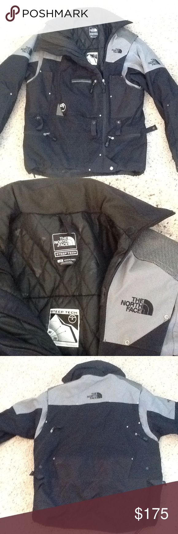 THE NORTH FACE STEEP TECH DOWN BLACK PARKA COAT THE NORTH FACE Steep Tech Down black parka coat. MENS sz Large, Excellent condition! Great coat! Will ship right away. Check out my other designer items The North Face Jackets & Coats Puffers