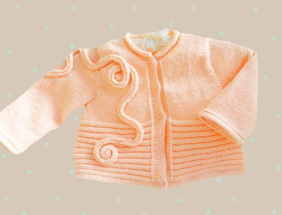 Hand knitted baby sweater baby sweater in by Svetlanababyknitting
