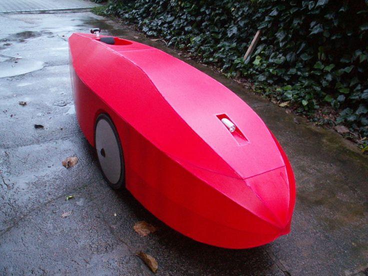 Velomobile with Corrugated Plastic Fairing