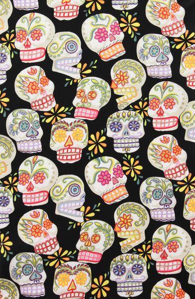 Stoffa con teschi messicani Calaveras di Händisch-Design su DaWanda.com