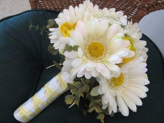 Spring gerbera daisy wedding bouquet in by MyFavorsandFlowers