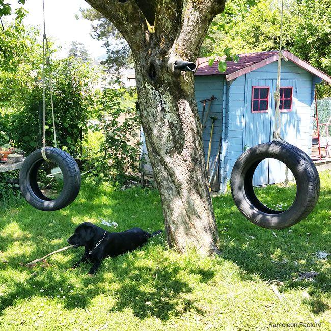 1000 id es propos de balan oires pneus sur pinterest for Balancoire de jardin