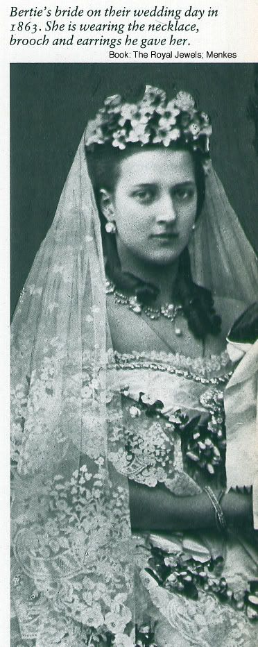 Princess Alexandra of Denmark in her wedding dress (to future King of England Edward VII)
