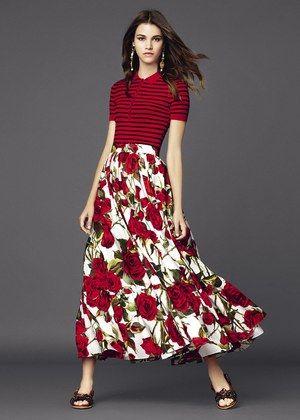 yo elijo coser: Patrón gratis: falda larga hippie (de Burda). Imitando a Dolce & Gabbana