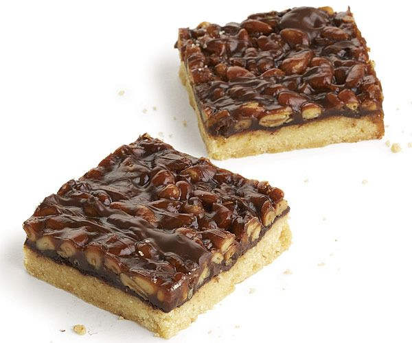 Pine Nut and Chocolate Caramel Bars by Fine Cooking