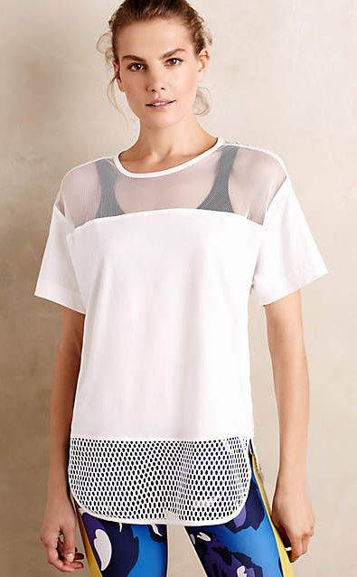 Adidas by Stella McCartney Cotton Mesh Tee #anthrofave