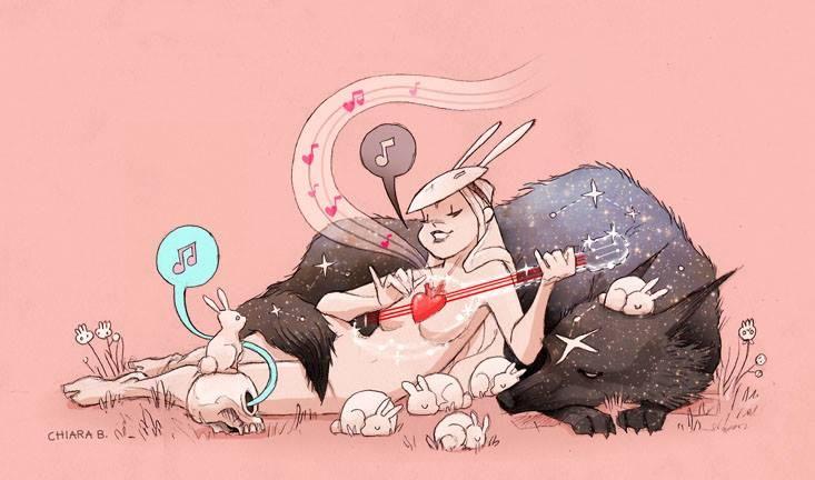 arte con lobos y estrellas - Buscar con Google