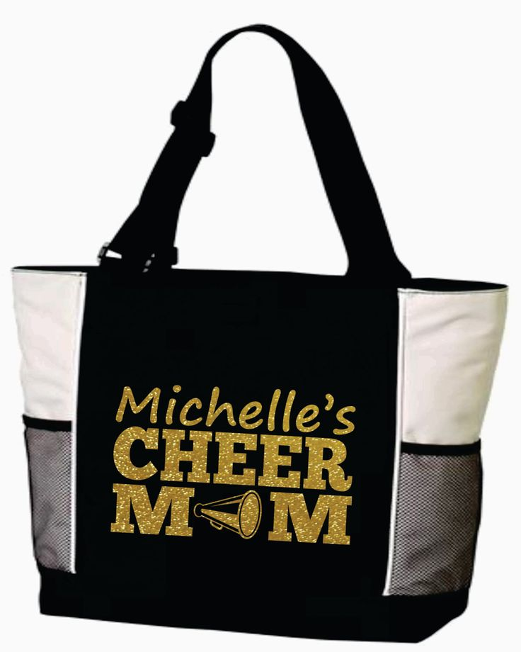 CHEER MOM Bag. Cheer Mom Tote. Mascot Cheer Bag. Team Cheer Bag. Sports Cheer Bag. Glitter. Personalize. Customize. Free Shipping. by MainStreetSports on Etsy https://www.etsy.com/listing/198627034/cheer-mom-bag-cheer-mom-tote-mascot
