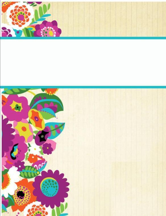 Cute free binder covers:)