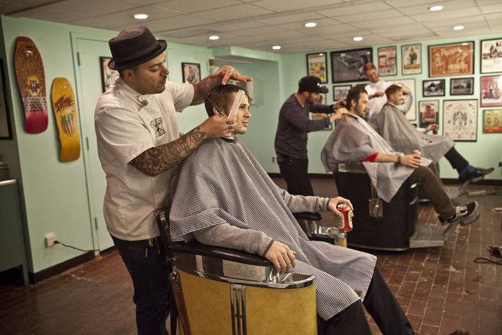 At The Stepping Razor Barbershop (all photos by Thérèse Maher for Bushwick Daily)