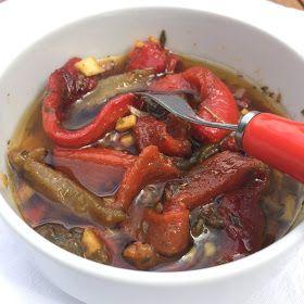 Les p'tits plats du Manoir: Poivrons marinés ... pour accompagner un bon mojito