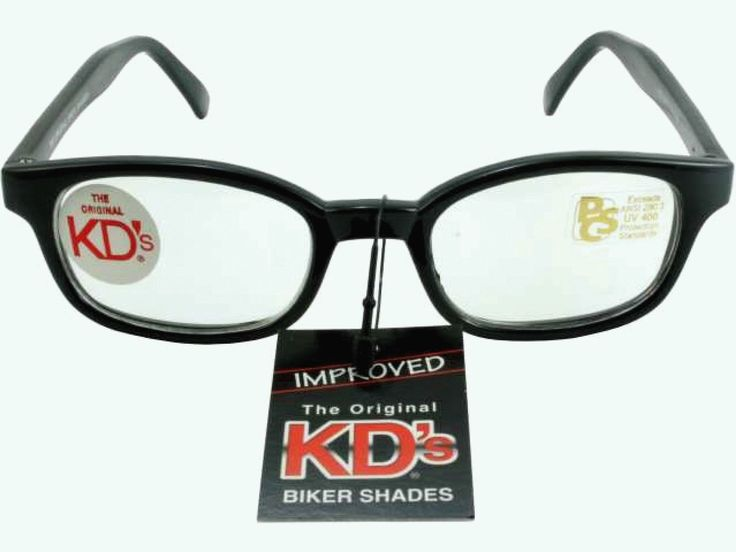 KD Sunglasses Original Harley Biker Shades Black Clear Lens 2015