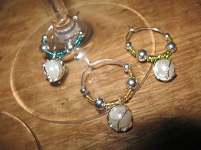 generally creative more wine glass charms