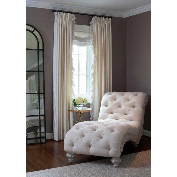 Bedroom Reading Corner French Chaise Lounge found on Polyvore featuring  polyvore, home, furniture,
