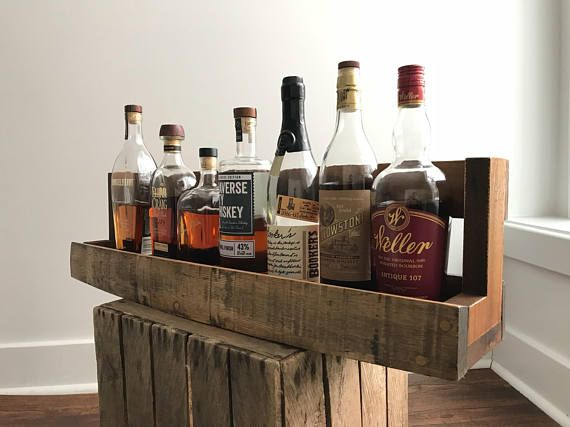 In looking for a unique way to display my bourbon collection, I wasnt able to find anything that suited my taste, so I built one. Using reclaimed bourbon barrels from local breweries, each shelf has its own character and feel, and is sealed with polyurethane. This shelf will make a