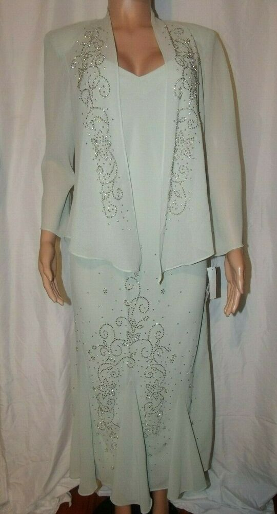 797da43855f eBay Ad) Nwt Size 10 R M Ricards Sage 2pc Mother of the Bride Beaded ...