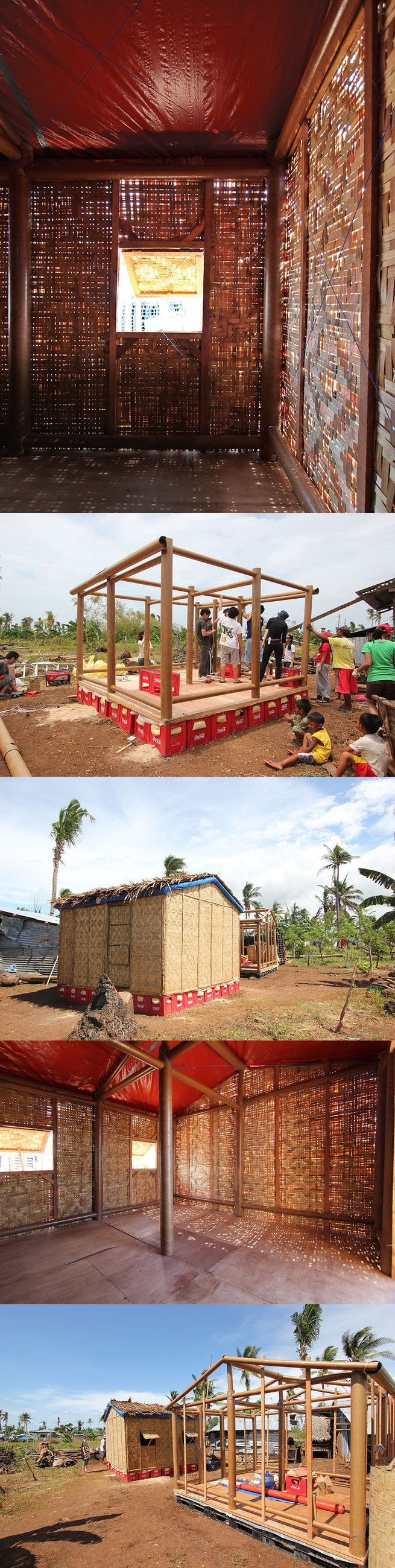 Architect Shigeru Ban has designed temporary shelters for disaster-stricken areas such as Japan, Turkey, New Zealand, India, and the Phillipines. http://www.dwell.com/modern-world/article/shigeru-ban-designs-temporary-easy-build-shelters-disaster-prone-areas