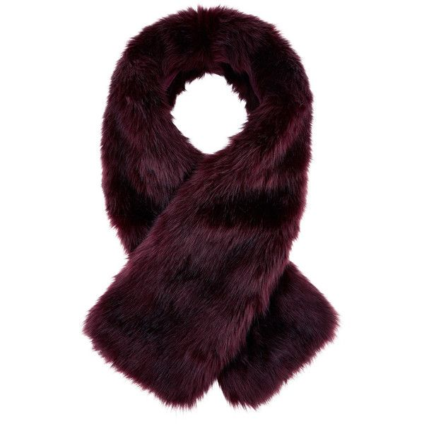 Accessorize Burgundy Tippet Scarf (£34) ❤ liked on Polyvore featuring accessories, scarves, accessorize scarves, faux fur shawl, fake fur shawl, burgundy scarves and faux fur scarves