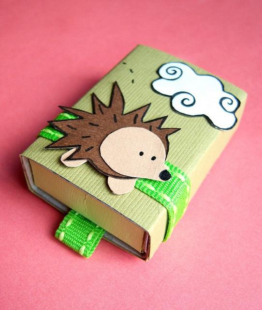 Miss Pickles hedgehog matchbox. #kawaii
