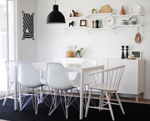 Tiny Shelves + Cute Vignette+ Cloud Cutting Board <3