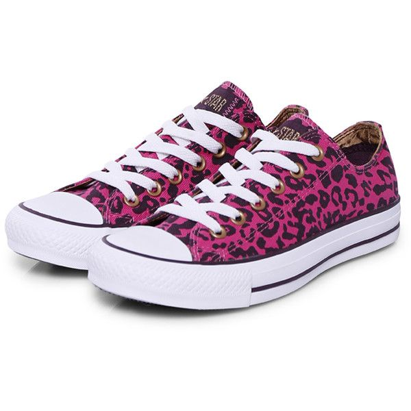 Converse Sneakers Classic Cheetah ($97) ❤ liked on Polyvore