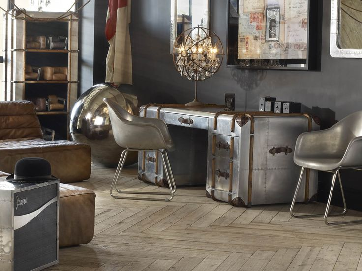 Harking back to the romantic era of long, luxurious voyages by sea, the Globetrekker range is inspired by an original trunk from 1914 that Timothy Oulton discovered at an antiques market. #Timothyoulton #worktime #officeinteriors #dawsonandco