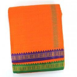 Dhoti with shawl - Orange