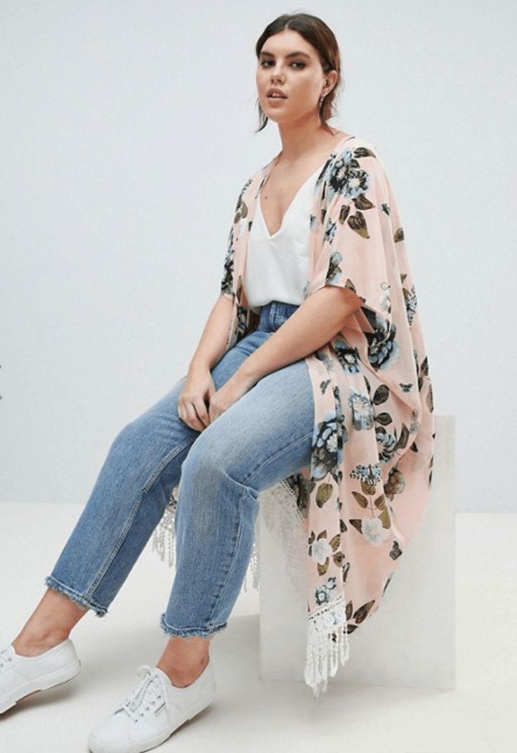 Plus-size Feminine fashions ideas. - Plus-size Feminine fashions ideas. Source by joannaziem - Chubby Fashion, Big Girl Fashion, Trendy Fashion, Womens Fashion, Fashion Styles, Fashion Ideas, Swag Fashion, Dope Fashion, Kimono Fashion