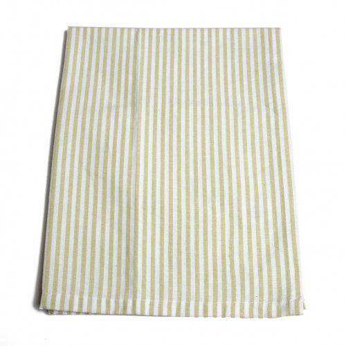 Theedoek, groen/wit gestreept, 50 x 70 cm