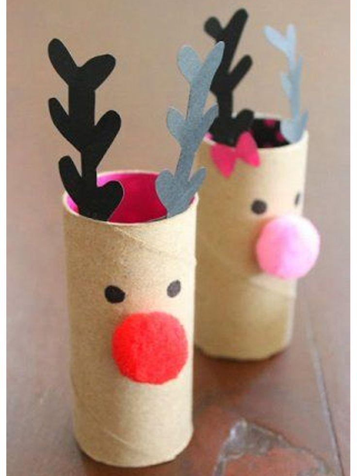 decoración navideña con reciclaje                                                                                                                                                                                 Más