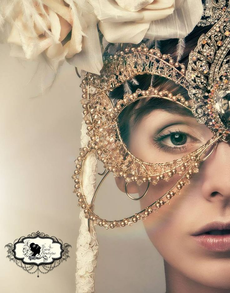 Autumnal Topaz masquerade mask.  Photographer: https://www.facebook.com/mikecroshaw.photos  Model: Patience Pending Model Page   Bouquets and Headpieces: The Tiara Boutique   Hair and Makeup : https://www.facebook.com/pages/AAB-Wedding-Event-Specialist/1418049861766058