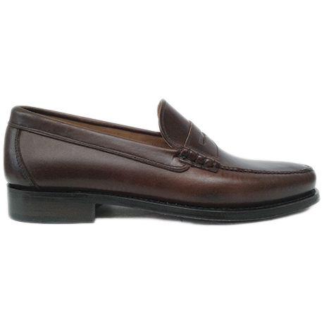 8289 zapato mocasín beefroll en piel engrasada marrón de Currucanero | Calzados Garrido