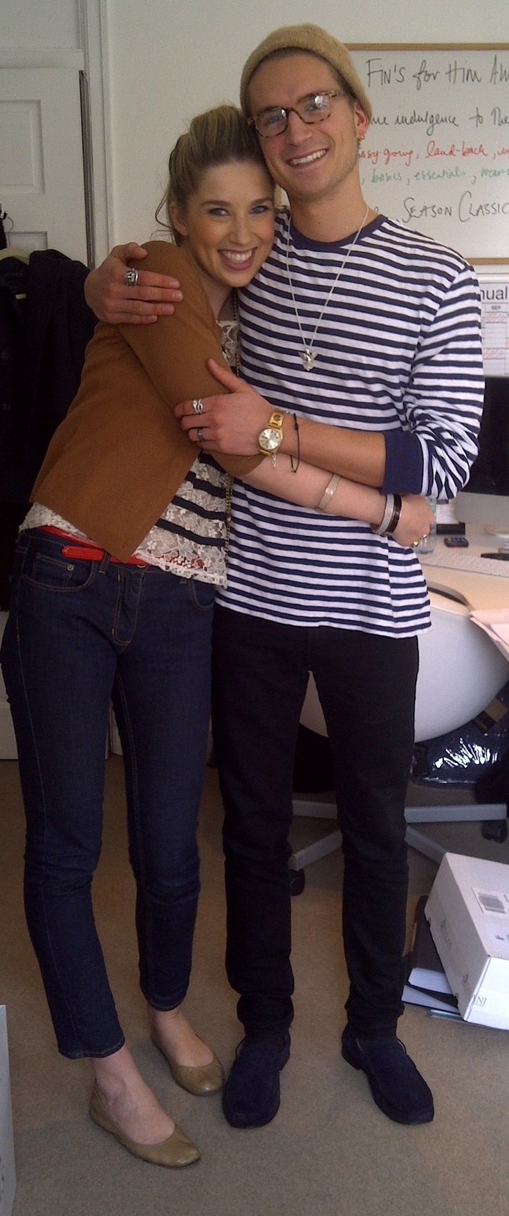 Fin and Oliver Proudlock from Made in Chelsea. He loved our Marshall loafers in Bute Navy.