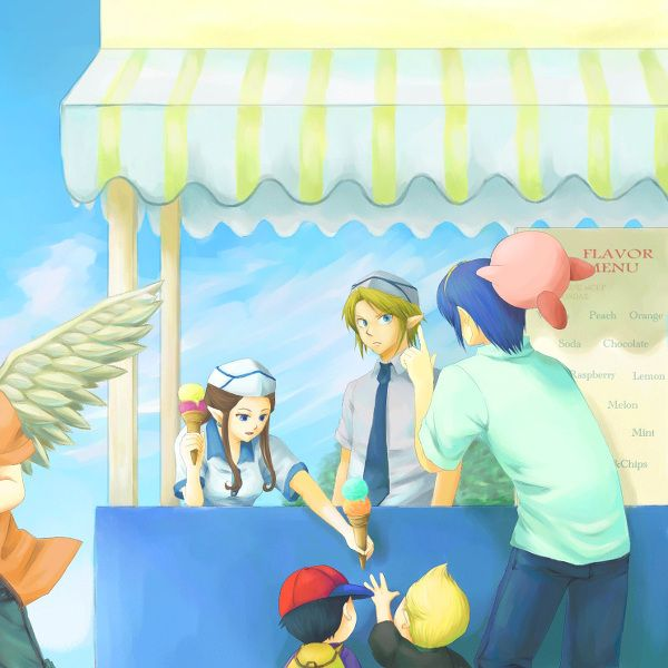 """Marth: Hey Link, can  I have two Cherry Garcias?  Link: F*** you man.  Kirby: That's a no no word.  Zelda: Link, do I need to take away our """"special time"""" again?!"""