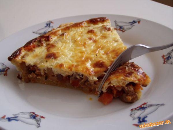 Quiche [kiš] - francúzsky slaný koláč