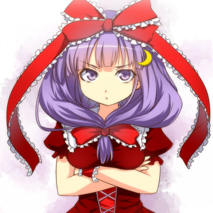 Patchouli makes for a pretty grumpy looking cosplayer.