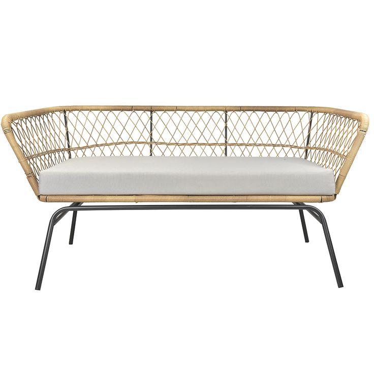 Caledonia Outdoor 2 Seater Sofa - Matt Blatt