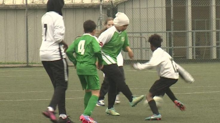 The Victoria Derbyshire programme looks at a football project aiming to to prevent youngsters becoming radicalised.